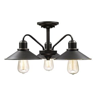 Z-Lite – Luminaire semi-encastré Casa 613SF-OB, 3 amp., bronze antique