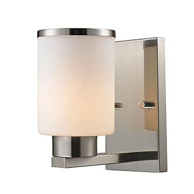 Z-Lite 706-1S-BN Roxburgh Wall Sconce Light Fixture, 1 Bulb, Matte Opal