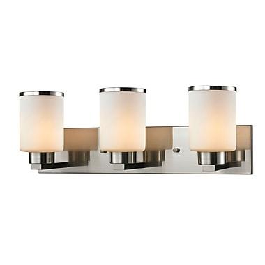 Z-Lite 706-3V-BN Roxburgh Vanity Light Fixture, 3 Bulb, Matte Opal