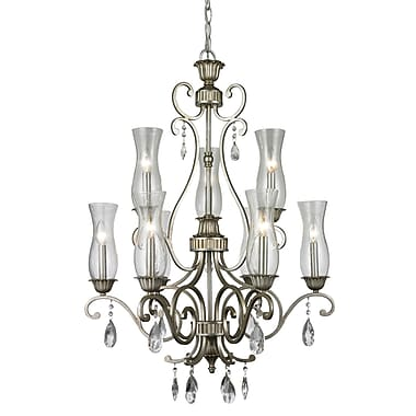 Z-Lite 720-9-AS Melina Chandelier Light Fixture, 9, Clear Seedy