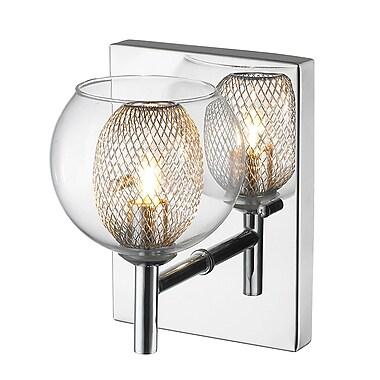Z-Lite 905-1SC Auge Wall Sconce Light Fixture, 1 Bulb, Chrome