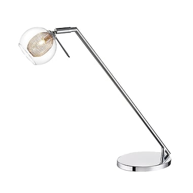 Z-Lite – Lampe de table 905DL, 1 ampoule, transparent + grillage de fer