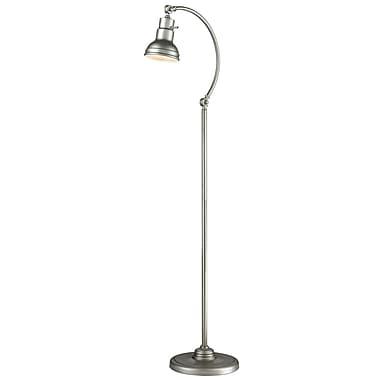 Z-Lite FL119-BS Ramsay Floor Lamp, 1 Bulb, Burnished Silver