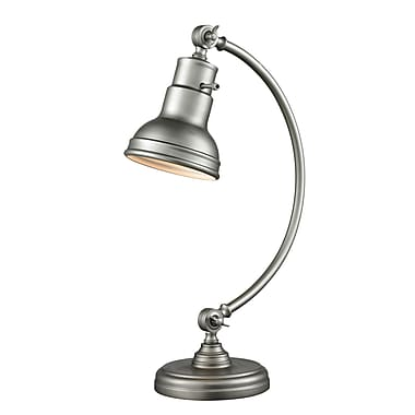 Z-Lite TL119-BS Ramsay Table Lamp, 1 Bulb, Burnished Silver