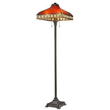 Z-Lite Z17-53FL Crimson Floor Lamp, 3 Bulb, Amber Mica and Honey Amber Tiffany