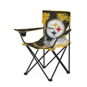 Idea Nuova NFL Kids Camping Chair w/ Cup Holder; Pittsburgh Steelers