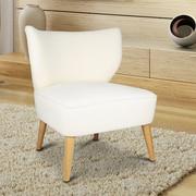 AdecoTrading Leisure Slipper Chair; Cream