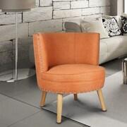 AdecoTrading Round Leisure Slipper Chair; Orange