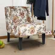 AdecoTrading Printing Fabric Slipper Chair