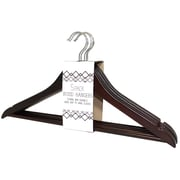 Signature Home Brands Wood Clothes Hangers with Pant Bar (Set of 60); Mahogany