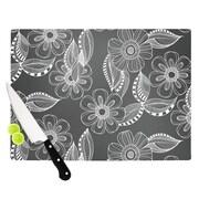 KESS InHouse Floral Ink by Louise Machado Cutting Board; 11.5'' H x 8.25'' W x 0.5'' D