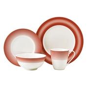 Auratic Licorice 16 Piece Dinnerware Set; Candy Corn