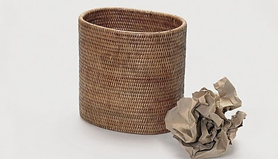 artifacts trading Rattan Oval Waste Basket