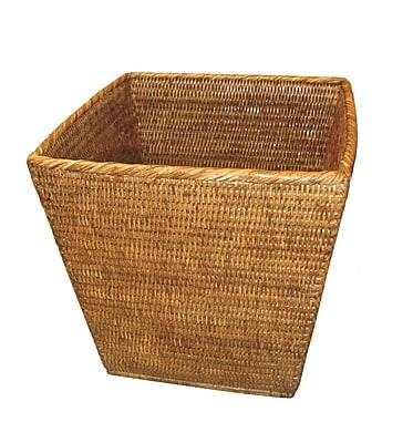 artifacts trading Rattan Square Waste Basket