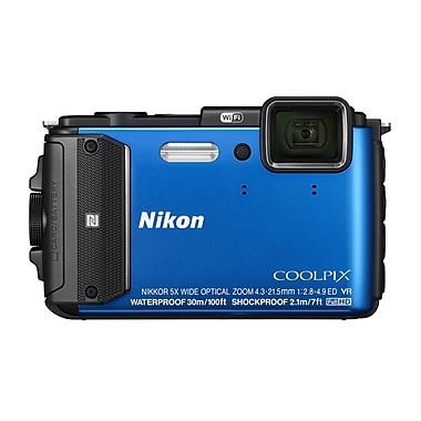 Nikon COOLPIX AW130 Digital Cameras, 16.0MP, 5x Optical Zoom, 3