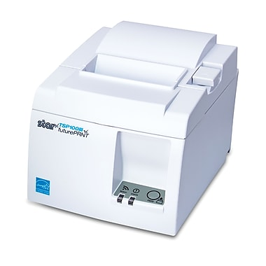 Star Micronics TSP143IIIW, Thermal, Auto-cutter, WLAN (Wi-Fi), White, WPS easy connection, Internal UPS