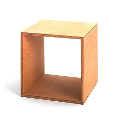 Quagga Designs – Table de chevet « Funline », 15 long. x 12 larg. x 13,4 haut. (po), bouleau naturel huilé, 2/paquet