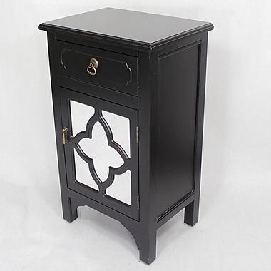 Heather Ann Wooden Cabinet w/ 1 Drawer and 1 Door; Black