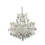 Elegant Lighting Maria Theresa 19 Light  Chandelier; White / Crystal (Clear) / Royal Cut