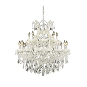 Elegant Lighting Maria Theresa 24 Light  Chandelier; White / Crystal (Clear) / Royal Cut