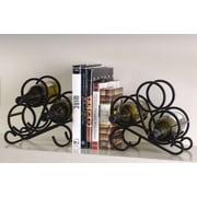 Oenophilia Scroll Rack Tabletop Wine Rack Bookend (Set of 2)