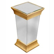 Elegant Lighting Manhattan Pedestal End Table; Gold