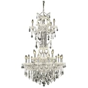 Elegant Lighting Maria Theresa 25 Light  Chandelier; White / Crystal (Clear) / Royal Cut