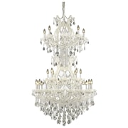 Elegant Lighting Maria Theresa 34 Light  Chandelier; White / Crystal (Clear) / Royal Cut