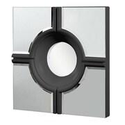 Elegant Lighting Modern Wall Mirror; Black