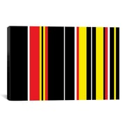 iCanvas Striped Ferrari Badge Graphic Art on Canvas; 26'' H x 40'' W x 0.75'' D