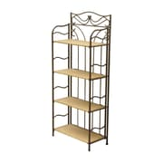 International Caravan Valencia 4 Tier Wicker Resin Outdoor Bakers Rack