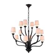 Elegant Lighting Vineland 12 Light Chandelier; Bronze