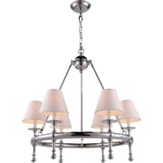 Elegant Lighting Montgomery 6 Light Chandelier; Polished Nickel