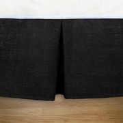 Brite Ideas Living Burlap Pleated Daybed Bed Skirt; Black