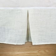 Brite Ideas Living Burlap Pleated Daybed Bed Skirt; Off White