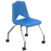 Marco Group MG1100 Series 18'' Plastic Classroom Chair (Set of 2); Blue