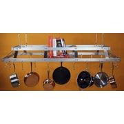 HSM Commercial Rectangular Hanging Pot Rack; With Grid