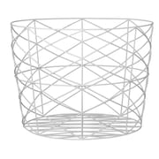 Bloomingville Metal Storage Basket; White