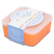 Frego 20 Oz. Glass and Silicone Toxin-free Food Storage Container; Orange