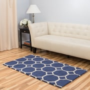 Harbormill Hand-Tufted Blue Area Rug; 3' x 5'