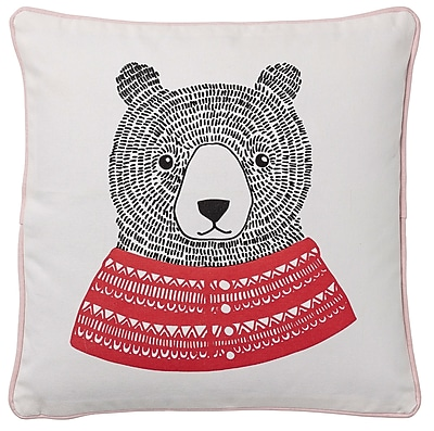 Bloomingville Bear Cotton Throw Pillow WYF078278673460