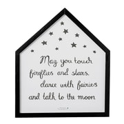 Bloomingville House Shaped ''May You Touch Fireflies and Stars '' Framed Graphic Art