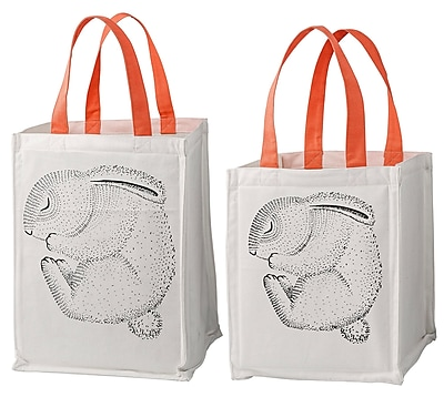 Bloomingville Sleeping Animal 2 Piece Storage Bag w/ Handles Set WYF078278673485