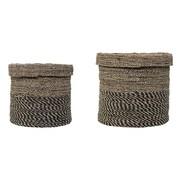 Bloomingville 2 Piece Round Seagrass Basket Set