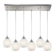Radionic Hi Tech Fusion 6 Light Kitchen Island Pendant; White