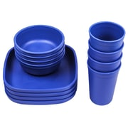 Re-Play Love My Color 12 Piece Dinnerware Set; Navy Blue