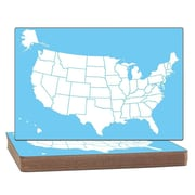 Flipside Products US Map Two-Sided Dry Erase Whiteboard, 1' H x 2' W (Set of 12)