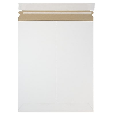 JAM Paper Photo Mailer Stiff Envelopes with Self Adhesive Closure 9.75 x 12.25 White Sold Individually 5PSW