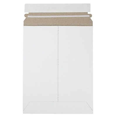 JAM Paper Photo Mailer Stiff Envelopes with Self Adhesive Closure 7 x 9 White Sold Individually 1456649