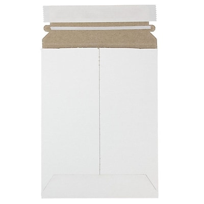 JAM Paper Photo Mailer Stiff Envelopes with Self Adhesive Closure 6 x 8 White Sold Individually 1PSW